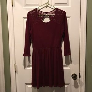 Burgundy semi formal dress